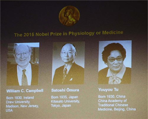 three scientists share 2015 nobel prize for physiology, medicine